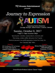 Journey to Expression will be held at 3 p.m. Sunday, Oct. 8, at Holmes Marshall Fire Co., 5300 Deborah Drive, Piscataway.