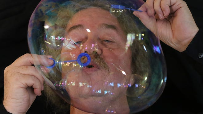 """Tom McAllister, 69, a Paterson native who performs under the name Tom Noddy, is the world's original bubble artist. His unique talent has taken him to stages in Tokyo and Berlin and to """"The Tonight Show Starring Johnny Carson."""""""