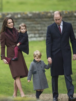 Prince George and Princess Charlotte accompanied their