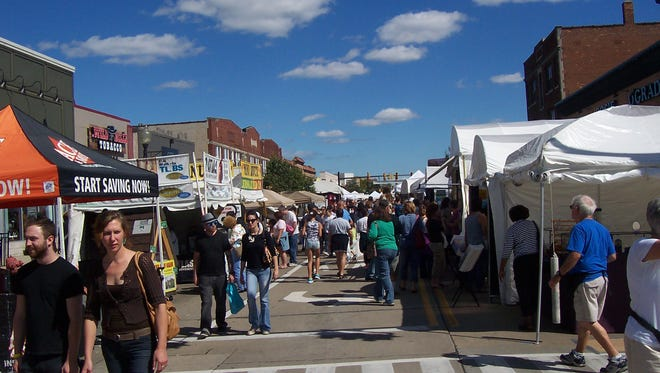 Crowds will shop for fine art, crafts, decorations and jewelry at the Funky Ferndale Art Fair along 9 Mile west of Woodward Avenue.