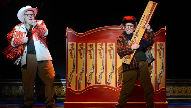 """Chris Van Vleet (left) as Jean Shepherd and Colton Maurer as Ralphie in Broadway Across America's """"A Christmas Story: The Musical"""" will be playing Nov. 24-29 at ASU Gammage, Mill Avenue and Apache Boulevard, Tempe. Admission: $25 and up. Details: 480-965-3434, asugammage.com."""