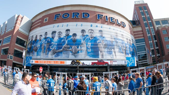 Sep 10, 2017; Detroit, MI, USA; A general view of Ford Field before the opener between the Detroit Lions and the Arizona Cardinals.