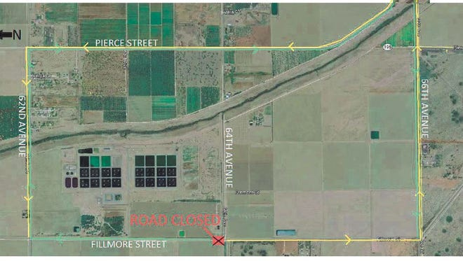 This map shows the location of a Coachella Valley Water District project on Fillmore Street. It's one of several projects that will cause road closures and traffic delays over the next few weeks.