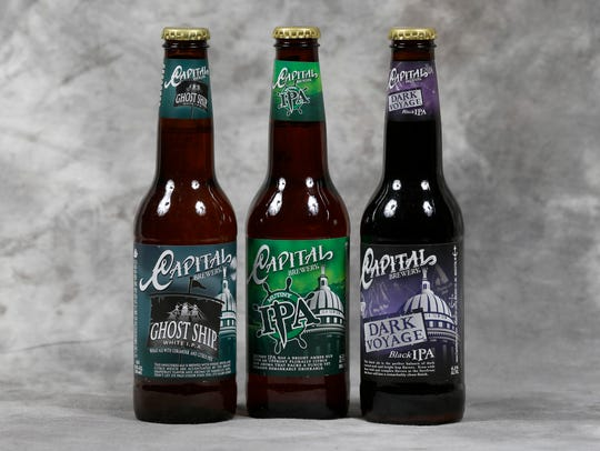 Three of Capital's IPA offerings range from white to