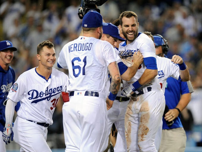 Sept. 18: Los Angeles Dodgers outfielder Chris Taylor