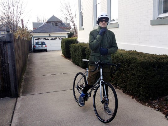 John had been looking forward to getting well enough to ride his bike again after the transplant. On his first ride, his neighbor followed him to make sure he was OK.