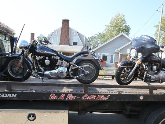 FBI agents seized five motorcycles at the Outlaws motorcycle