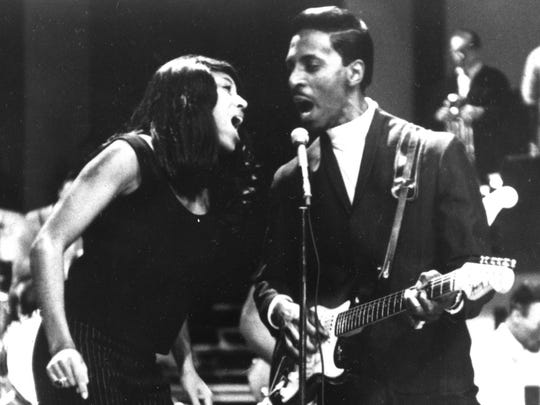 Tina and Ike Turner perform onstage in 1966.