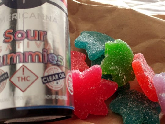 Sugar high: Edibles, like these gummies, are an exceptionally discreet way to consume