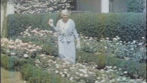 Lou Henry Hoover, wife of Herbert Hoover, enjoyed walking through the White House gardens.