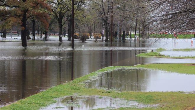 Flooding in northeastern Louisiana Thursday
