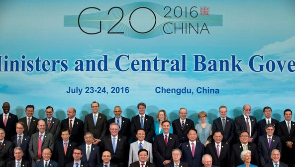 G20 Finance Ministers and Central Bank Governors pose