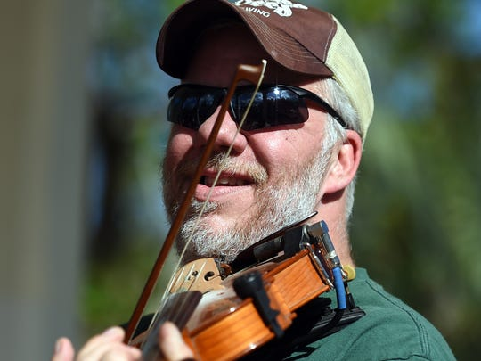Green-clad festival-goers celebrated St. Patrick's Day Friday, March 17, 2017, at the fourth annual Shamrock Fest in Gazebo Park in downtown Stuart. The festival featured live Irish music, Irish step dancers, bagpipers, green beer, an Irish whiskey bar, Irish fare by Chef Holly Reith Pratt, and more.