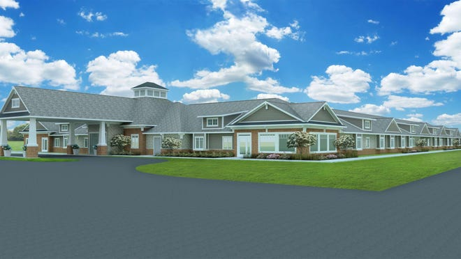 This rendering shows what the Hampton Manor assisted-living facility being built in Madison Township is expected to look like.