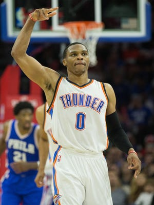 Oklahoma City Thunder guard Russell Westbrook (0) has made it clear he's committed to the team.