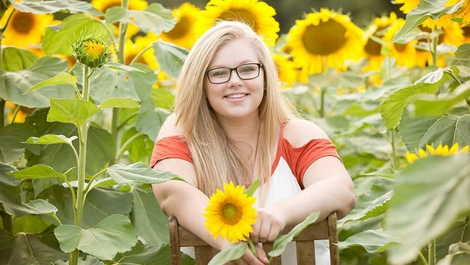Mikeala Tollini was recently named as the Wendy Caulkins Scholarship Winner by the Cheboygan Area Arts Council.  Photo by Kerry Belding.