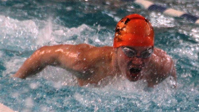 Ryle's Brandon Powell won the boys' outstanding competitor award at the Boone County Swimming and Diving Championships.
