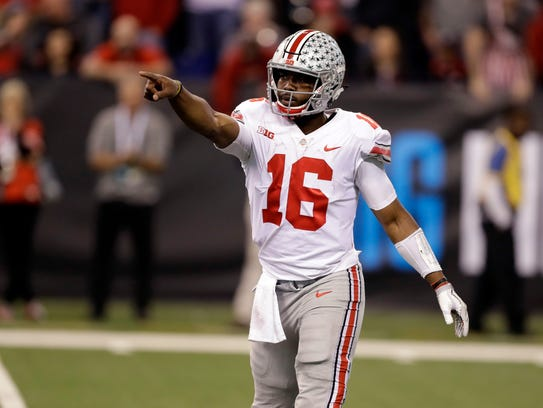 Ohio State quarterback J.T. Barrett during the Big