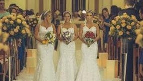 Identical triplets get married on same day.