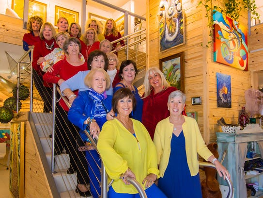 Art is Everywhere Committee members Jackie Brock, Diana