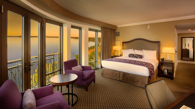 This guest room faces Lake Mendota in downtown Madison.