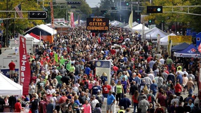 Octoberfest brings an estimated 100,000 people to downtown Appleton.