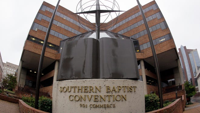 FILE - In this Dec. 7, 2011 file photo, the headquarters of the Southern Baptist Convention is shown in Nashville, Tenn.
