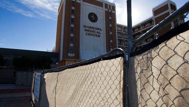 Maricopa Medical Center as shown in a Feb. 12, 2014, photo.