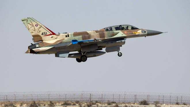 Israeli F-16 aircraft struck a suspected Hezbollah missile shipment in Syria.