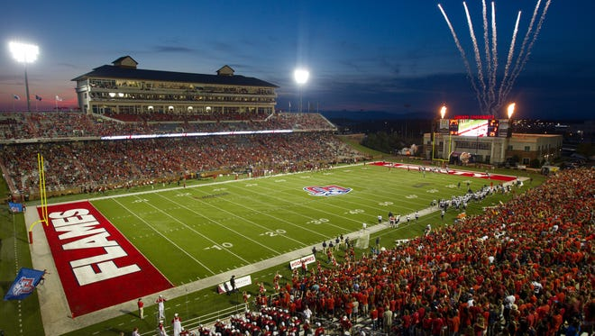 Liberty's Williams Stadium is set for an expansion to 60,000 seats the moment the Flames are invited to join an FBS conference.