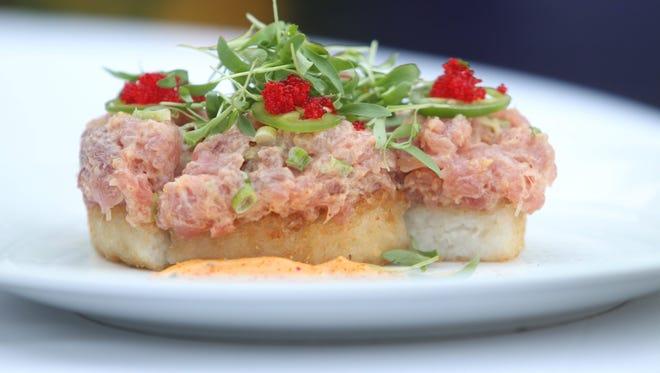 Big eye tuna pizzetta at Crabtree's Kittle House in Chappaqua ( Peter Carr / The Journal News )