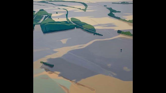 """Flooded Landscape 9"" by Christopher Burk"