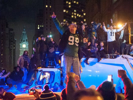 Eagles fans celebrate Super Bowl win
