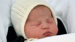 Princess Charlotte on day she was born, May 2, 2015.