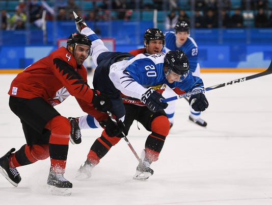 Olympics: Ice Hockey-Men Team Quarterfinal-CAN-FIN