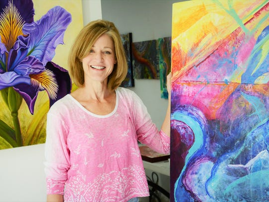 Artist Jennifer Hendry, whose work will be on display at the next Wine, Art, and Music event at 1800 Prime.