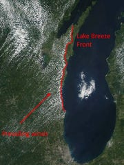 Scientists want to study what effect lake breezes have on the transmission of air pollution along the lakeshore.