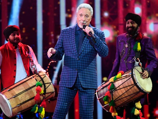 Tom Jones performs at The Queen's Birthday Party concert