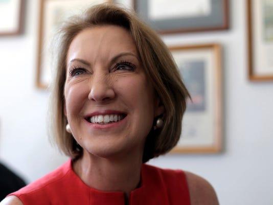 Republican presidential candidate Carly Fiorina (Charlie Riedel, AP)