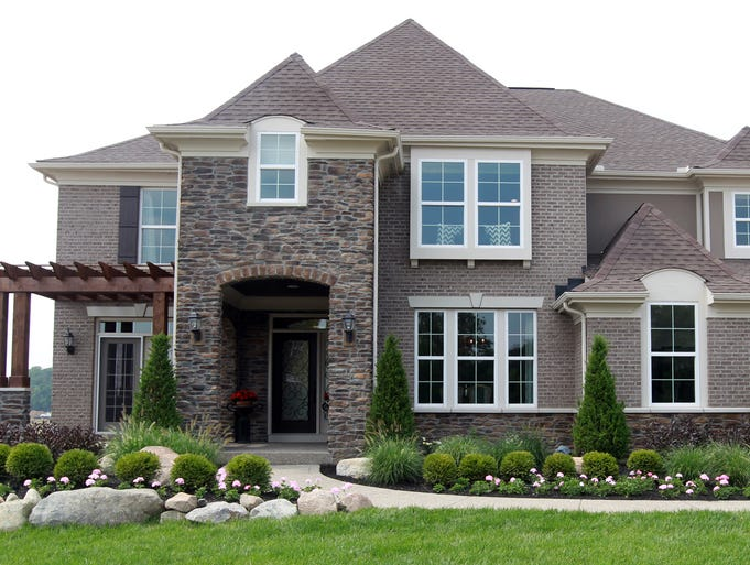 Exterior of The Wheatland by Fischer Homes, one of the home featured at the Homebuilders Association of Northern Kentucky's Homefest in Triple Crown, Boone County.