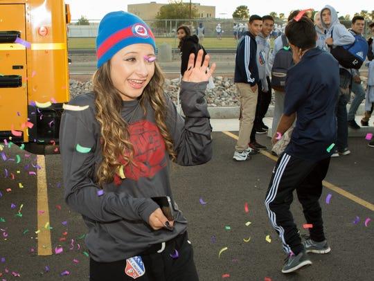 Las Cruces High's Jazmine Olayo-Muñoz gets blasted