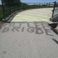Sheriff's office urges vandal to #stayinschool after finding misspelled graffiti on a Grafton bike bridge