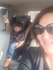 Nap time Lucy Himstedt was babysitty her grandsons Wyatt and Grant Tomlinson while Mom and Dad got some some R&R on vacation. After dropping Grant off at school, Wyatt, who refused a nap, did what many kids do when on a car ride and fell asleep.