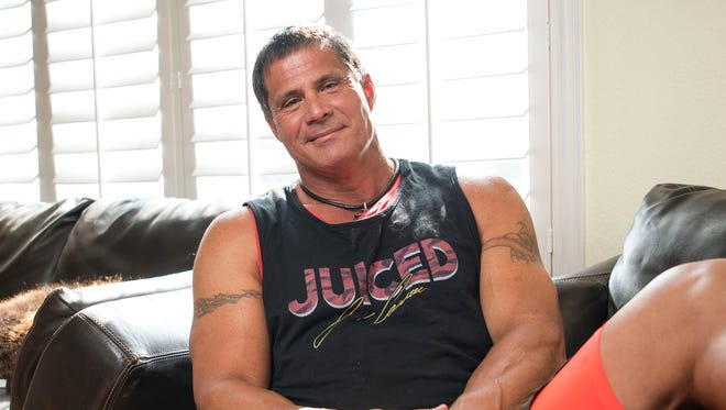 Jose Canseco, shown in his Las Vegas home in May 2017, apparently has signed with World Class Pro Wrestling.