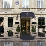 This Friday Dec. 5, 2008 file photo shows the entrance of the Harry Winston jewelry store near the Champs-Elysees in Paris.