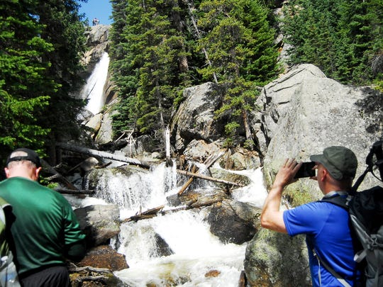 Hikers joined the Coloradoan for a hike to Ouzel Falls in Rocky Mountain National Park Juen 6, 2015.