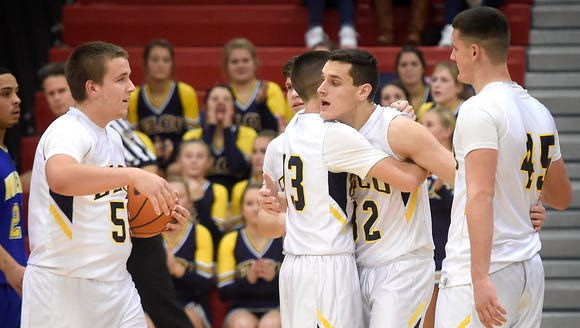 The Elco Raiders defeated the Muhlenberg Mules 78-33