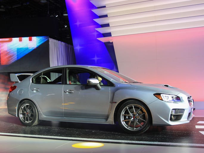 The new Subaru WRX STI performance sedan is introduced at the  North American International Auto Show in Detroit.