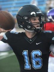 Six-foot-6 freshman Ethan Postler is pushing starter Bryce Viole to be Moorpark College starting quarterback.