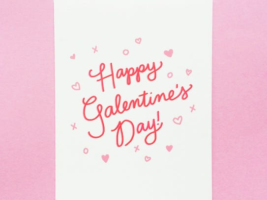 "A Galentine's Day card from the Etsy shop ""Design &"